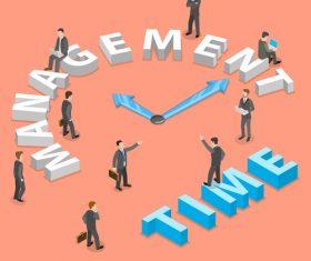Time management concept cartoon illustration vector