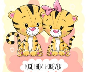 Together forever cartoon vector