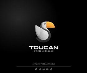 Toucan gradient logo vector