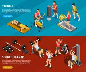 Training cartoon illustration vector