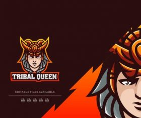 Tribal queen sport and e sports logo vector