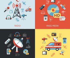 Tv news cartoon illustration vector
