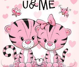 Twins cartoon illustration vector