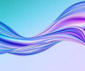Twisted ribbon gradient blue background vector