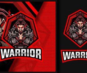 Warrior esport logo vector