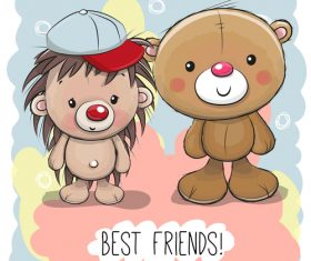 We are best friends vector
