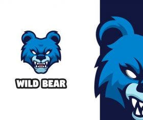 Wild bear logo vector