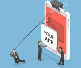 YOUR APP illustration vector