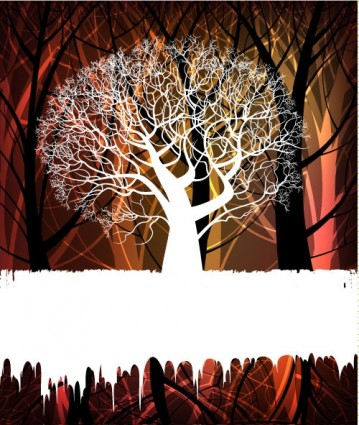 tree silhouette elements Background 02 vector