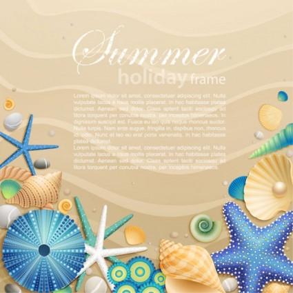 beautiful cartoon ocean art Background 03 vector