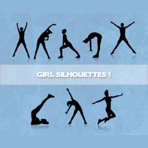 Girls Silhouettes Photoshop Brushes