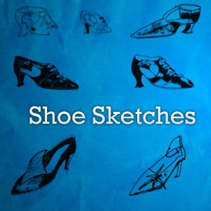 Shoes Sketches Photoshop Brushes