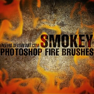 SMOKEY Fire Photoshop Brushes