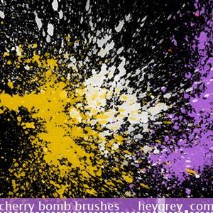 Cherry Bomb Photoshop Brushes