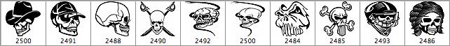 Skull Photoshop Brushes