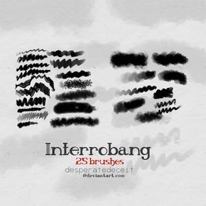 Interrobang Painting Brushes Photoshop Brushes free download