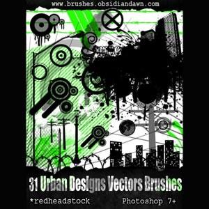Urban Designs Set of vectors Photoshop Brushes