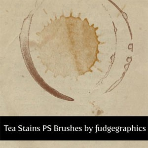 Photoshop Brushes: Tea Stains Photoshop Brushes