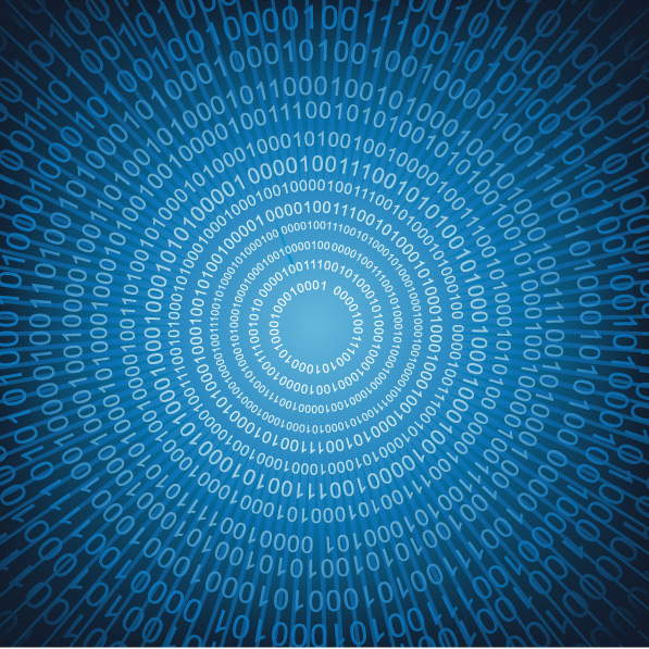 Blue digital background vector material
