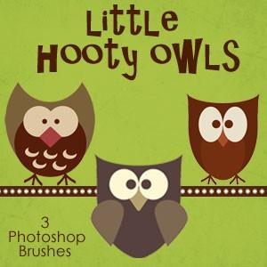 Little Hooty Owls Photoshop Brushes