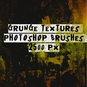 Grunge Textures Photoshop Brushes